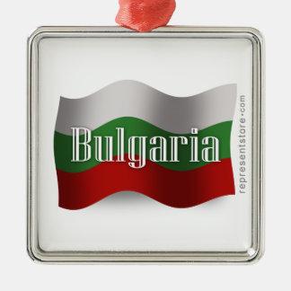 Bulgaria Waving Flag Christmas Ornament
