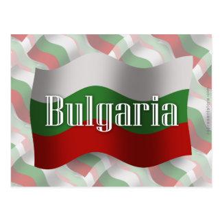 Bulgaria Waving Flag Postcard