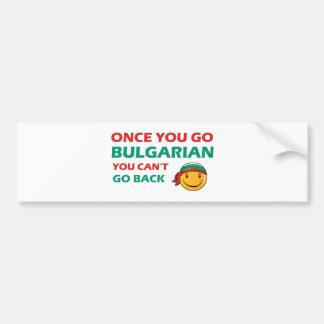 Bulgarian designs bumper sticker