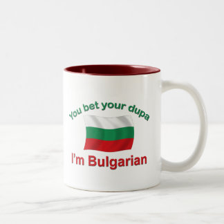 Bulgarian Dupa (with flag) Two-Tone Coffee Mug