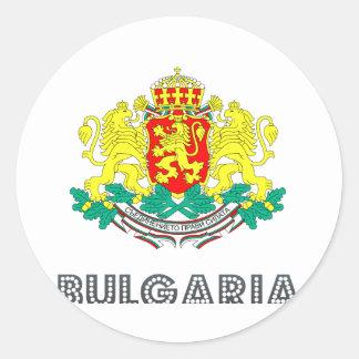 Bulgarian Emblem Classic Round Sticker