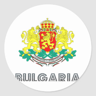 Bulgarian Emblem Round Stickers