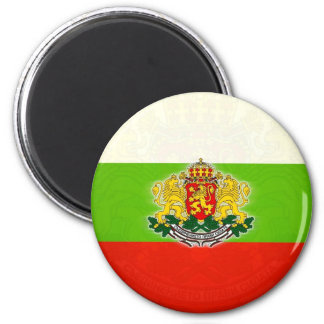 Bulgarian Flag with Coat of Arms Magnet
