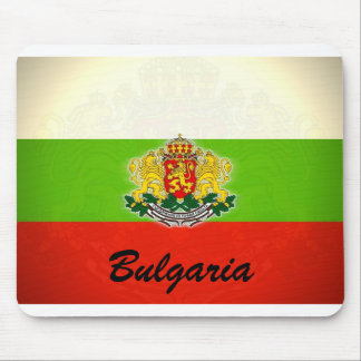 Bulgarian Flag with Coat of Arms Mouse Pad