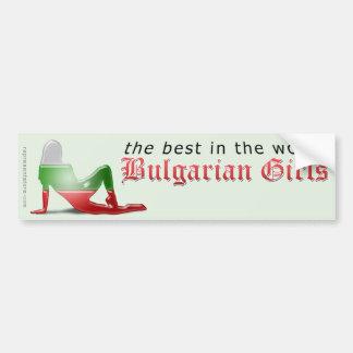 Bulgarian Girl Silhouette Flag Bumper Sticker