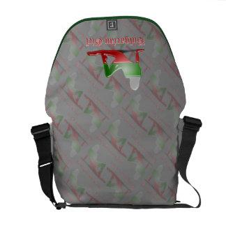 Bulgarian Girl Silhouette Flag Courier Bag