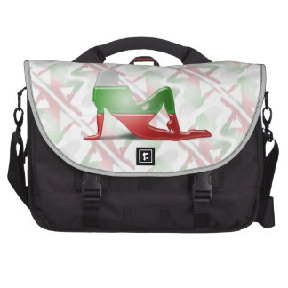 Bulgarian Girl Silhouette Flag Laptop Computer Bag
