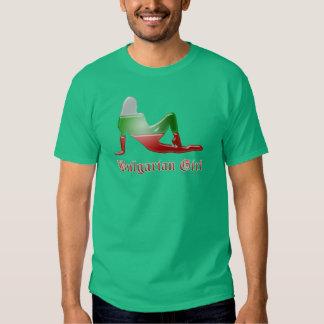 Bulgarian Girl Silhouette Flag Shirts