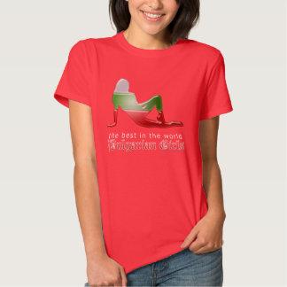 Bulgarian Girl Silhouette Flag T Shirt