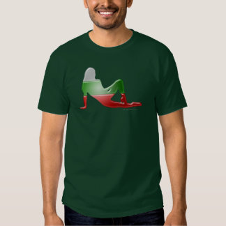 Bulgarian Girl Silhouette Flag Tee Shirts