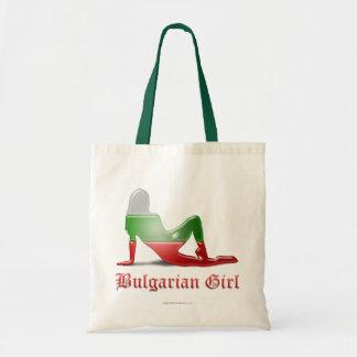 Bulgarian Girl Silhouette Flag Bag