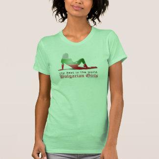 Bulgarian Girl Silhouette Flag Tee Shirt
