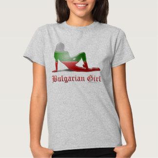 Bulgarian Girl Silhouette Flag Tshirt