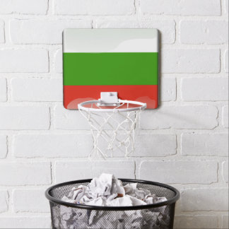 Bulgarian glossy flag mini basketball hoop