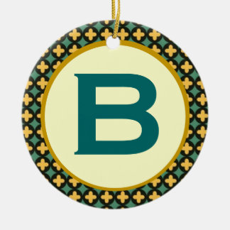 Bulgarian Orthodox Monogram Christmas Ornament