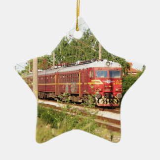 Bulgarian Passenger Train Christmas Ornament