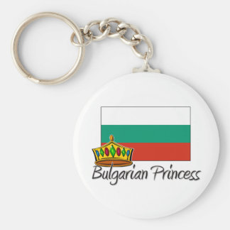 Bulgarian Princess Basic Round Button Key Ring