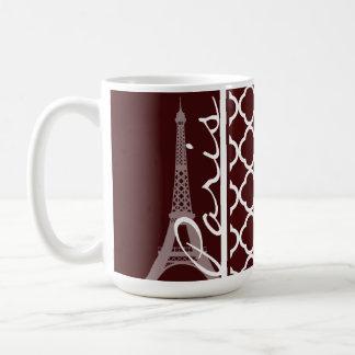 Bulgarian Rose Quatrefoil; Paris Basic White Mug