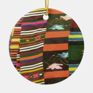 Bulgarian Rug/Cherga Round Ceramic Decoration