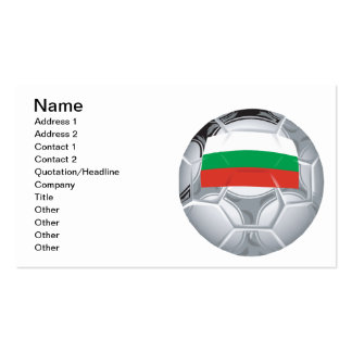 Bulgarian Soccer Ball Double-Sided Standard Business Cards (Pack Of 100)