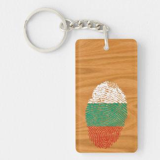 Bulgarian touch fingerprint flag key ring