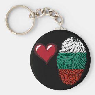 Bulgarian touch fingerprint flag key ring