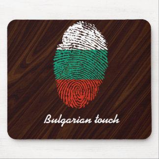 Bulgarian touch fingerprint flag mouse mat