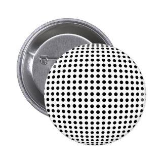 Bulge dots 6 cm round badge