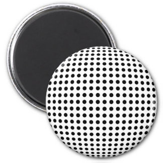 Bulge dots 6 cm round magnet