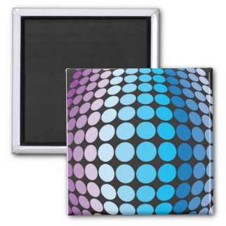 Bulging Blue Dots Pattern Square Magnet
