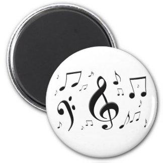 Bulging Music Notes Magnet