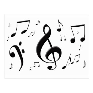 Bulging Music Notes Postcard