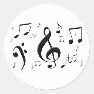 Bulging Music Notes Sticker