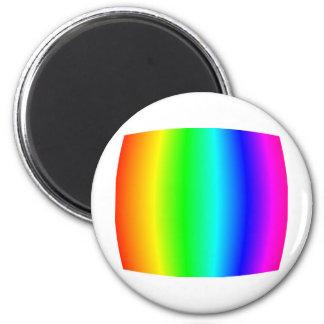 Bulging Rainbow 6 Cm Round Magnet