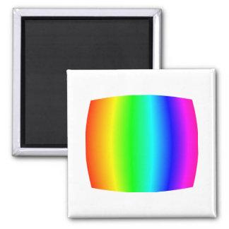 Bulging Rainbow Square Magnet