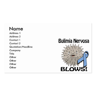 Bulimia Nervosa Blows Awareness Design Pack Of Standard Business Cards