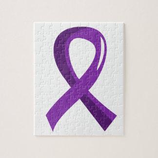 Bulimia Purple Ribbon 3 Jigsaw Puzzle