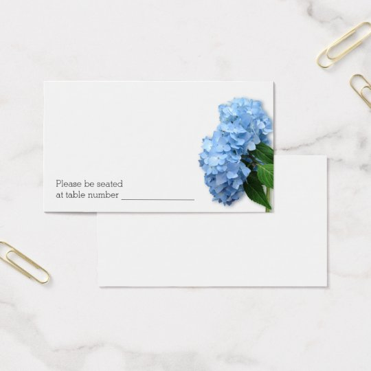Bulk Blue Floral Wedding Escort Table Number Cards