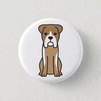 Bull Boxer Dog Cartoon 3 Cm Round Badge