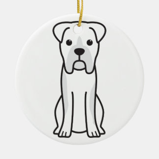Bull Boxer Dog Cartoon Christmas Ornament