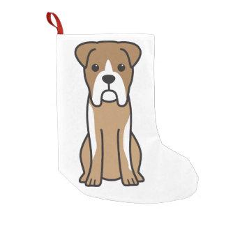 Bull Boxer Dog Cartoon Small Christmas Stocking