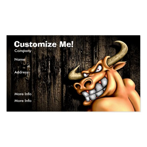 Bull Card / Customisable Pack Of Standard Business Cards