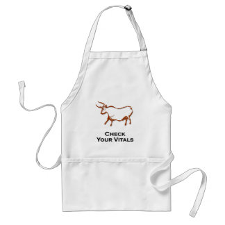 Bull Check Your Vitals Brown Adult Apron