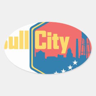 Bull City NC Oval Sticker