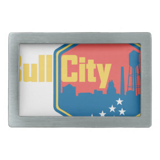 Bull City NC Rectangular Belt Buckle