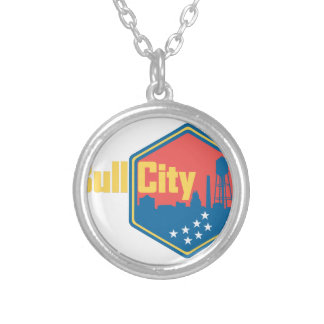 Bull City NC Round Pendant Necklace