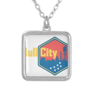 Bull City NC Square Pendant Necklace