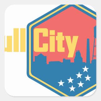 Bull City NC Square Sticker