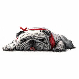 BULL DOG DESK BUDDY- Customized Standing Photo Sculpture