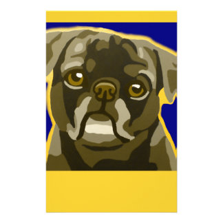 Bull Dog Pop Art Add Pets Name Customize Stationery